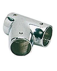 Té laiton chromé inclinée 60° - ø22 mm - la paire