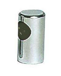 Embout de main-courante inox terminal ø30x55 pour tubes ø22mm - goujon M8