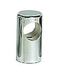 Embout de main-courante inox traversant ø30x60  pour tubes ø22mm - goujon M8
