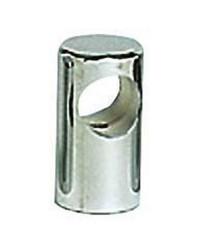 Embout de main-courante inox traversant ø40x80 pour tubes ø30mm - goujon M8