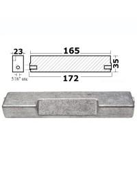 Anode cavalier Johnson Evinrude aluminium pour hord-bord 60-300 CV OEM 500789