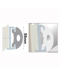 Profile PVC blanc hauteur 55 mm - rouleau de 20 mètres