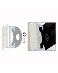 Profile PVC noir hauteur 55 mm - rouleau de 20 mètres