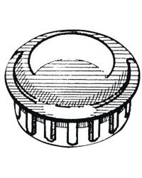 Bouchon ABS chromé pour tube 25 mm