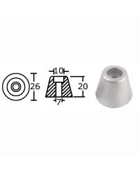 Anode de rechange aluminium pour hélice de proue OEM 61180
