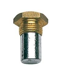 Bouchon en zinc réfrigérant, filetage 18x1,50, Ø15x35mm