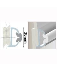 Support de liston de 4 mètres - modèle 38 mm gris