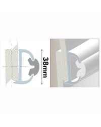 Profile PVC blanc hauteur 38 mm - rouleau de 20 mètres