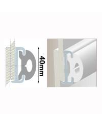 Profile PVC blanc hauteur 40 mm - rouleau de 20 mètres