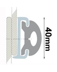 Profile PVC gris hauteur 40 mm - rouleau de 20 mètres