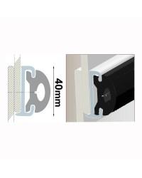 Profile PVC noir hauteur 40 mm - rouleau de 20 mètres