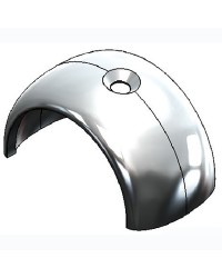 Couvre-joint de liston Radial 65 mm en inox