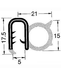 Profilé de finition pour épaisseur 4/5 mm