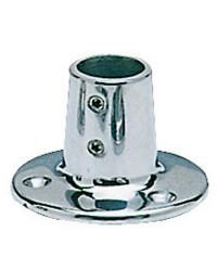 Platine inox ronde droite 90° - ø22 mm