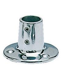Platine inox ronde droite 90° - ø25 mm
