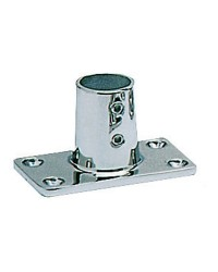 Platine inox rectangle droite 90° - ø22 mm