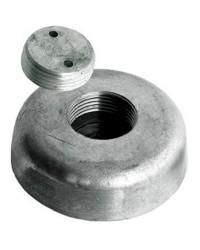 Anode avec fixation escamotable zinc Ø120xh35mm - 2,8Kg