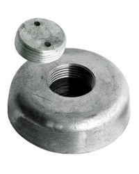 Anode avec fixation escamotable zinc Ø135xh52mm - 4,5Kg