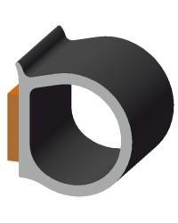 Profilé adhésif EPDM 11,4x10,3mm pour défense - noir