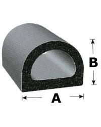 Profilé adhésif EPDM 17,5x16,9mm pour défense -noir