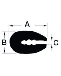Profilé PVC noir pour arrête 3,5mm