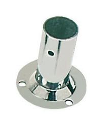 Platine inox soudé ronde droite 90° - ø22 mm