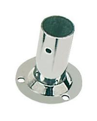 Platine inox soudé ronde droite 90° - ø25 mm