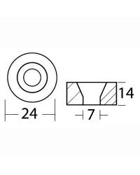 Anode magnésium rondelle Ø 24 x 14 mm OEM 688-45251-01