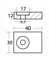 Anode plaque tige magnésium pour Johnson Evinrude 40/50 HP 4T OEM 5030265/5035786