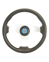 Volant TECHNIC alliage-polyurethane noir ø350 mm