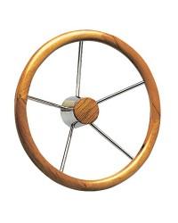 Barre à roue 5 branches inox et bois 400 mm