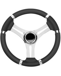 Volant B inox/noir 350mm pour cône universel