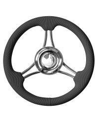 Volant à structure en inox poli miroir noir 350mm pour cône universel