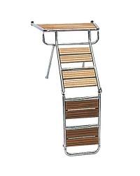 Passerelle échelle inox/iroko
