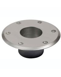 Base de rechange alu anodisé poli 160 mm pour pied de table 48.418.21 60 mm