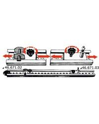 Rail inox 28x29mm 100 cm pour capote
