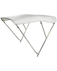 Bimini 3 arceaux inox - blanc - 180x175/185 cm