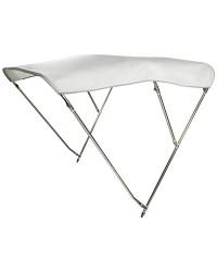 Bimini 3 arceaux inox - blanc - 180x225/235 cm