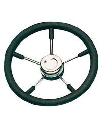 Volant polyuréthane-inox ø400 mm noir pour cône universel