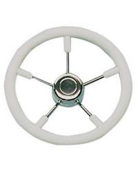 Volant polyuréthane-inox ø320 mm blanc pour cône universel