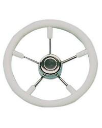 Volant polyuréthane-inox ø350 mm blanc pour cône universel