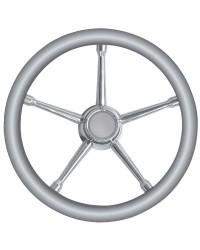 Volant 5 branches inox/gris 350mm pour cône universel