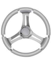 Volant 3 double branches inox/gris 350mm pour cône universel