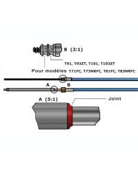 Câble de direction M90 Mach 25'