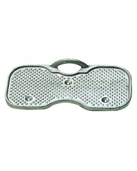 Protège tableau support moteur alu avec anneau de sécurité 200x94 mm