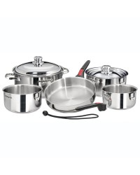 Casseroles empilables popote Magma en inox induction