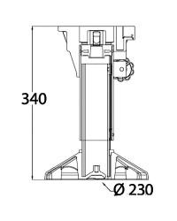 Support de siège Waverider avec amortisseur et tête tournante, réglable 340-450 mm
