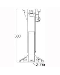 Support de siège Waverider avec amortisseur, tête tournante, réglable 500 à 630 mm