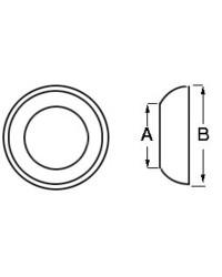 Coupelle pour embout inox câble de ø5 mm