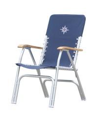 Chaise pliante de cockpit bleue Deck